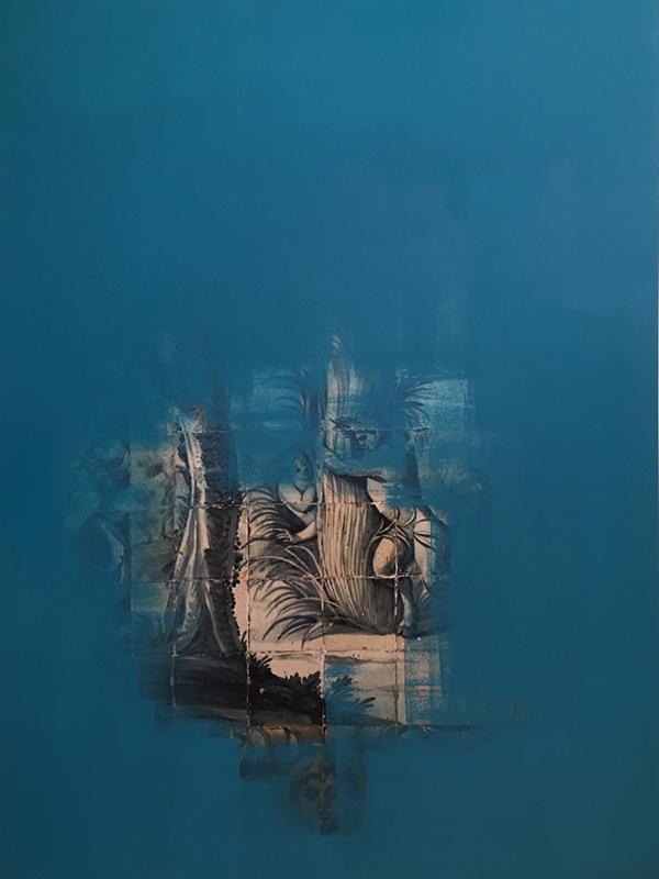 bleu canard#2. 75x100cm